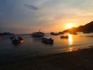 photo Couché de soleil sur Taganga
