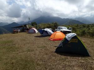 Notre campement avant le grand saut