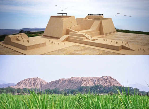 Vue sur la Huaca rajada