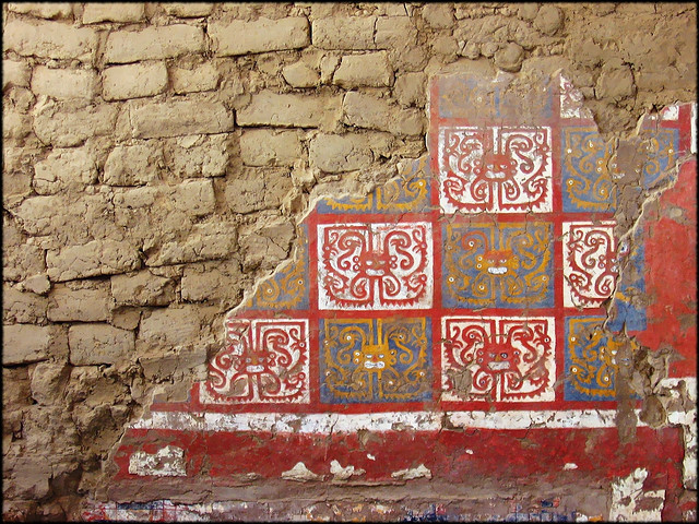 Détail de la fresque intérieure de la pyramide