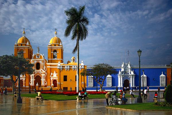 La plaza del armas toute colorée