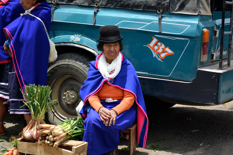 Femme Guambianos - Marché de Silvia - Colombie