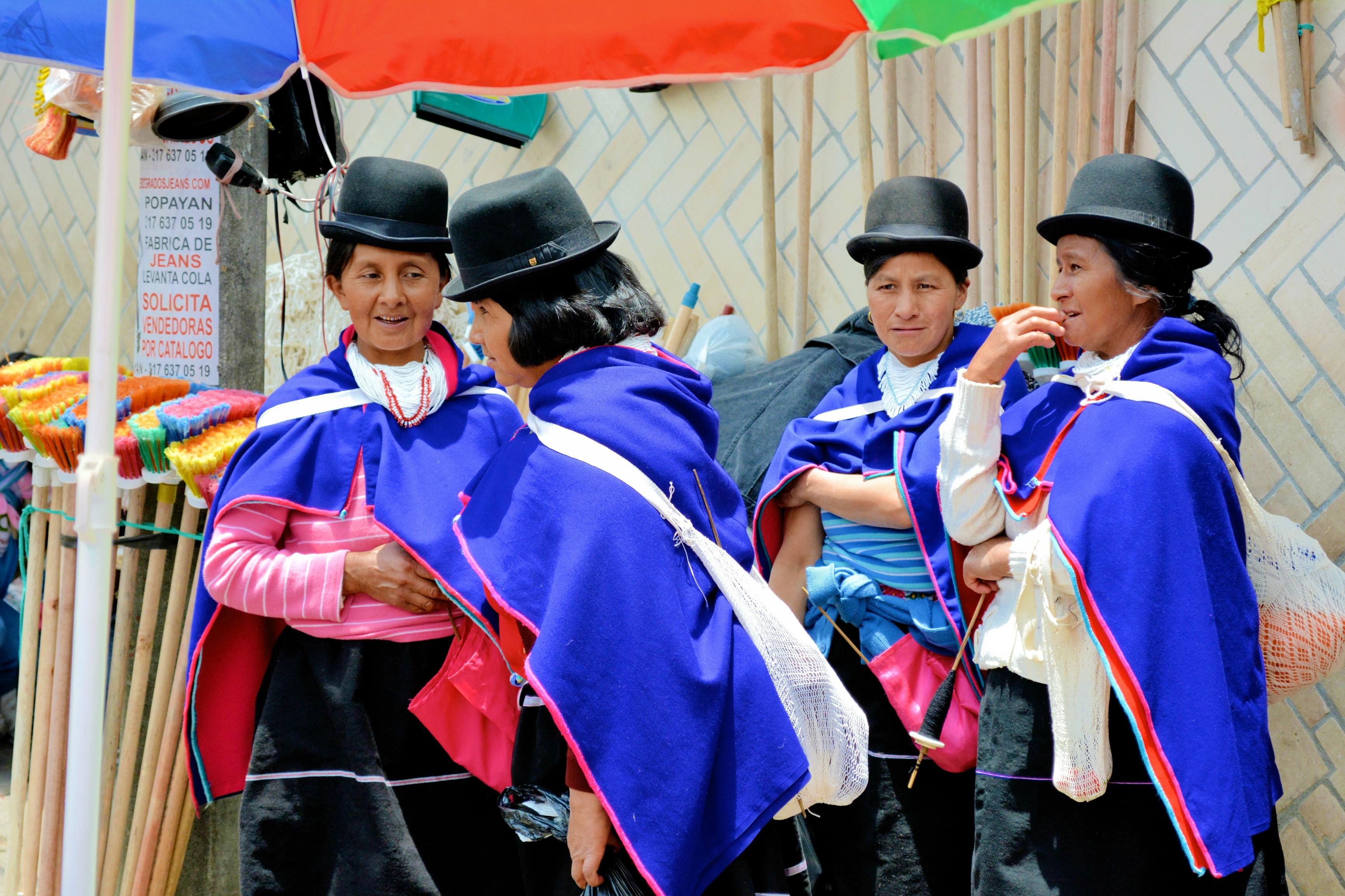 Ethnie des Guambianos - marché de Silvia - Colombie