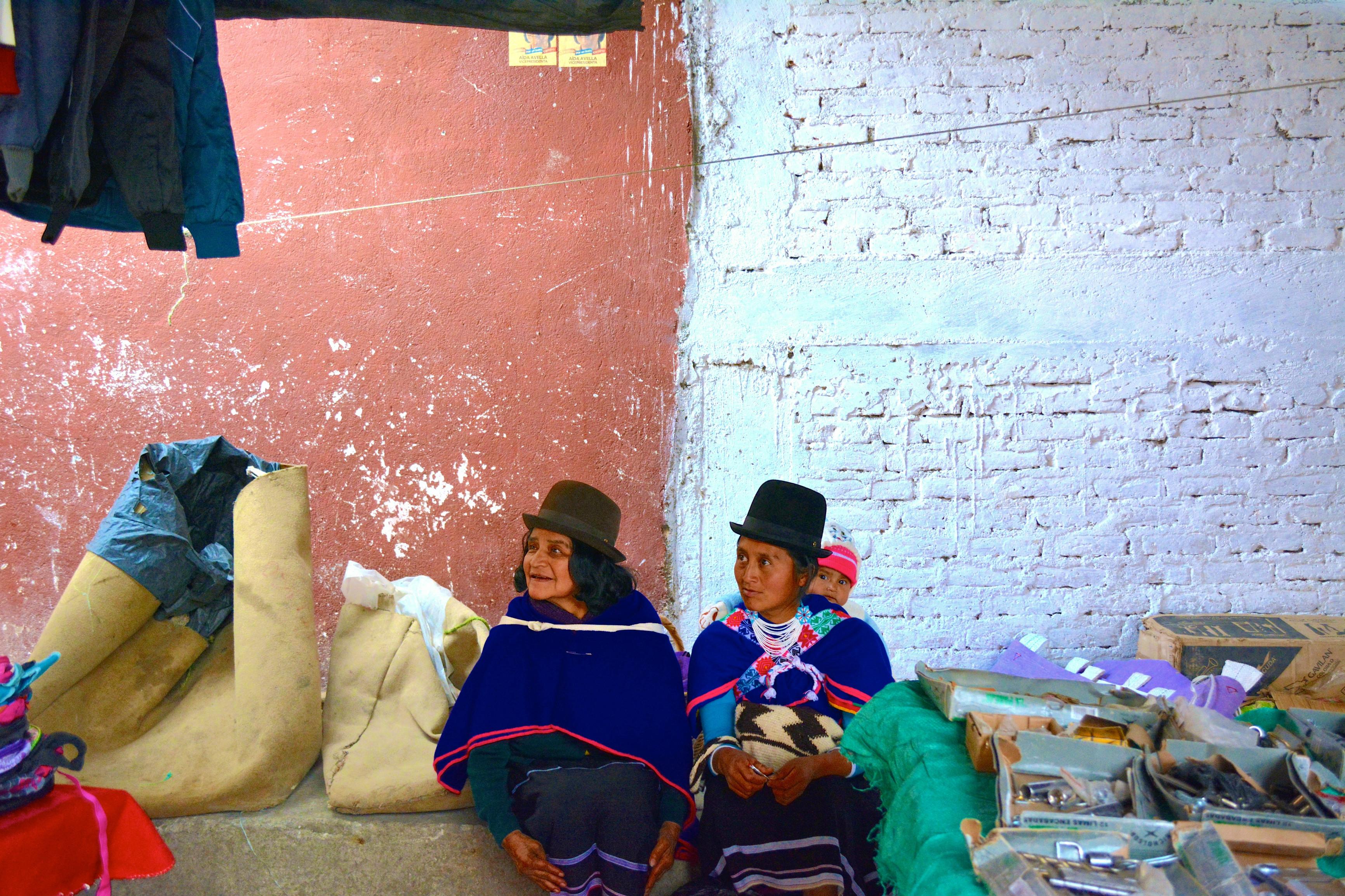 Femmes de l'ethnie de Guambianos - Marché de Silvia près de Popayan - Colombie
