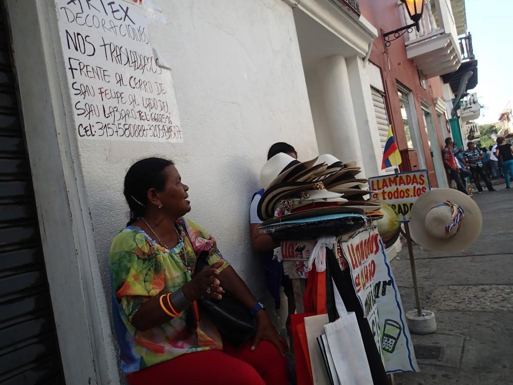 Vendeuse de rue à Carthagène - Colombie