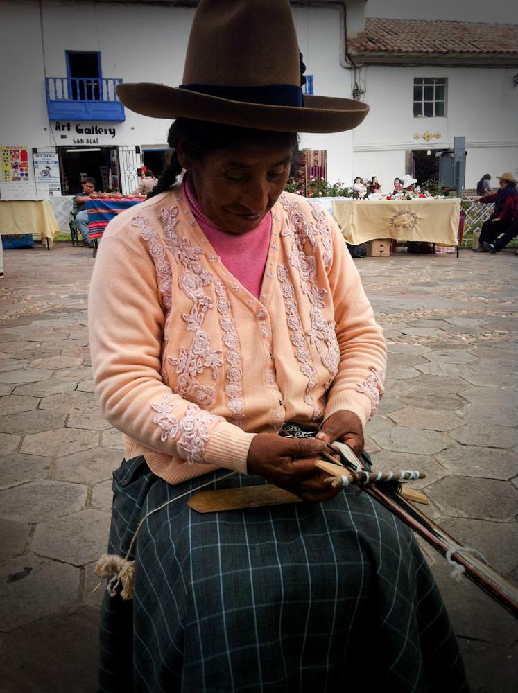 Tisseuse à Cusco - Pérou